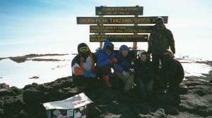 At the top of Mt. Kilimanjaro, Tanzania, 2001